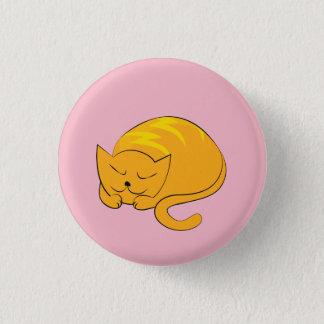 Bóton Redondo 2.54cm Desenhos animados do gato do gatinho do sono
