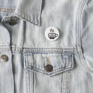 Bóton Redondo 2.54cm Design gráfico do botão do café do Grunge fluido