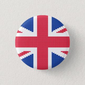 Bóton Redondo 2.54cm Design original Union Jack do ponto de cruz