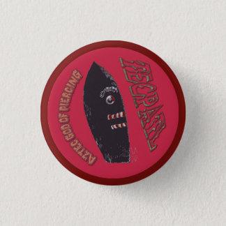 Bóton Redondo 2.54cm Deus asteca de Tecpatl do botão redondo pequeno da