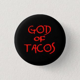 Bóton Redondo 2.54cm Deus do Tacos (texto somente)