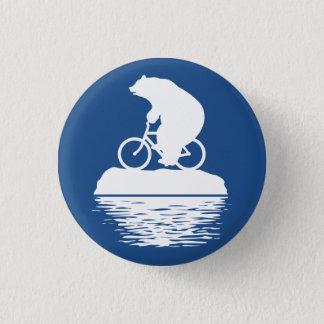 Bóton Redondo 2.54cm DIA DA TERRA: Botão da bicicleta do urso polar