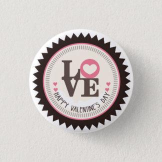 Bóton Redondo 2.54cm Disposição de feliz dia dos namorados do amor