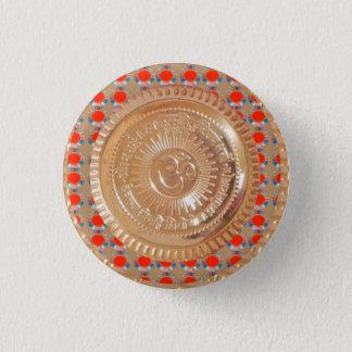 Bóton Redondo 2.54cm Divertimento do símbolo da hinduísmo do emblema do