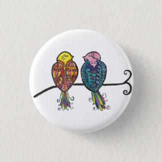 Bóton Redondo 2.54cm Dois pássaros coloridos