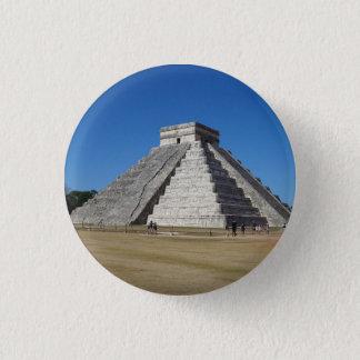 Bóton Redondo 2.54cm EL Castillo - Chichen Itza, botão de México #4