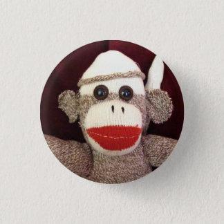 Bóton Redondo 2.54cm Ernie o Pin da cara do macaco da peúga