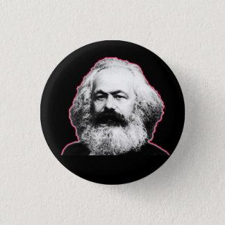 Bóton Redondo 2.54cm Esboço/preto vermelhos de Karl Marx