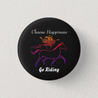 Bóton Redondo 2.54cm Escolha a felicidade - vá montar