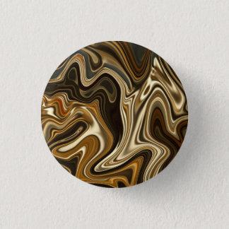 Bóton Redondo 2.54cm Estilo de mármore lindo - marrom morno