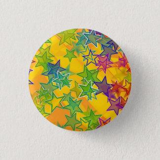 Bóton Redondo 2.54cm Estrelas pequenas, 1 botão redondo da polegada do