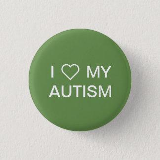 """Bóton Redondo 2.54cm """"Eu amo botão do meu autismo"""""""
