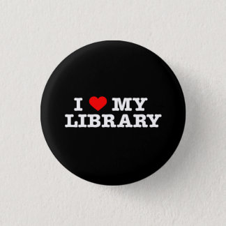 Bóton Redondo 2.54cm Eu amo minha biblioteca