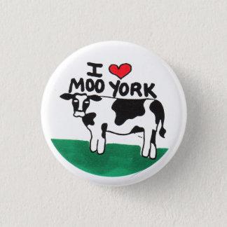 Bóton Redondo 2.54cm Eu amo MOO York