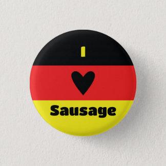 Bóton Redondo 2.54cm Eu amo o botão alemão da salsicha