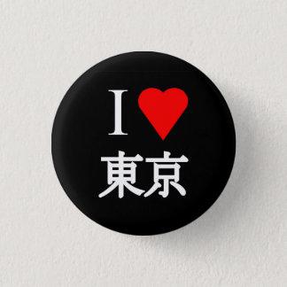 Bóton Redondo 2.54cm Eu amo Tokyo