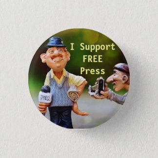 Bóton Redondo 2.54cm Eu apoio o botão da imprensa livre