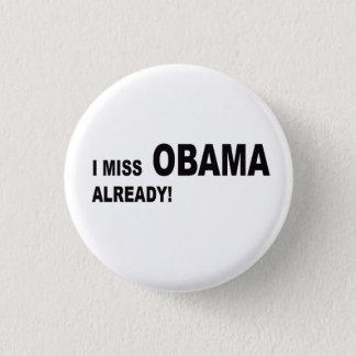 Bóton Redondo 2.54cm Eu falto Obama já!