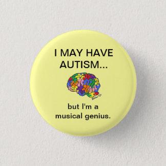 """Bóton Redondo 2.54cm """"Eu posso estar com o autismo, mas…"""" botão"""