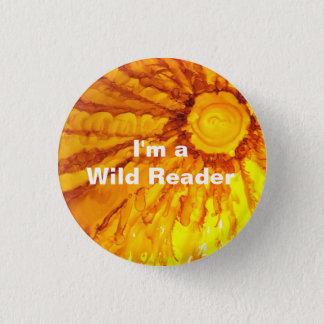 Bóton Redondo 2.54cm Eu sou um leitor selvagem - botão da tangerina