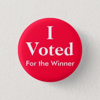 Bóton Redondo 2.54cm Eu votei para o vencedor