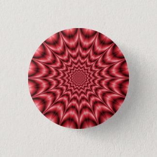 Bóton Redondo 2.54cm Explosão psicadélico no botão vermelho