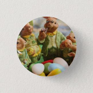 Bóton Redondo 2.54cm Família e ovos do coelho de coelhinho da Páscoa