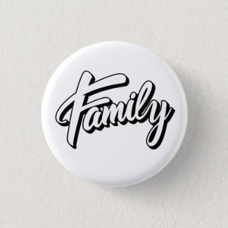 Bóton Redondo 2.54cm Family nação Button 3,2cm