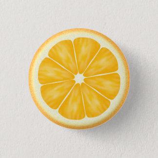 Bóton Redondo 2.54cm Fatia alaranjada dos citrinos