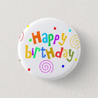 Bóton Redondo 2.54cm feliz aniversario