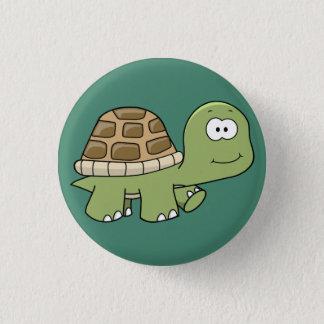 Bóton Redondo 2.54cm Feliz vai o botão afortunado da tartaruga