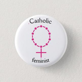 Bóton Redondo 2.54cm Feminista católica