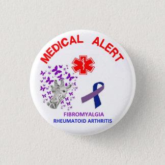 Bóton Redondo 2.54cm Fibromialgia 2 e botão da artrite reumatóide