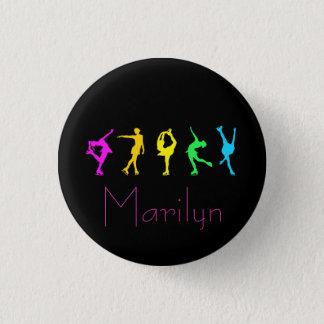 Bóton Redondo 2.54cm figura botão de néon do arco-íris dos patinadores