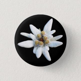 Bóton Redondo 2.54cm Flor alpina de Edelweiss