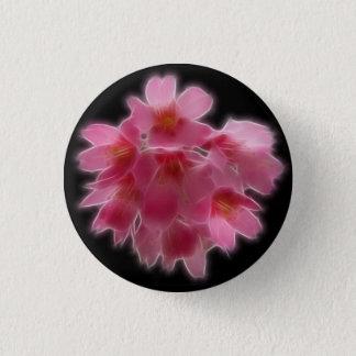 Bóton Redondo 2.54cm Flor cor-de-rosa da árvore da flor de cerejeira