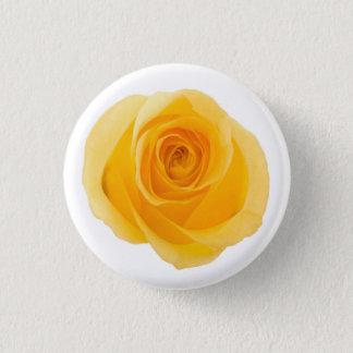 Bóton Redondo 2.54cm Flor cor-de-rosa fotográfica da amizade amarela
