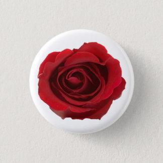 Bóton Redondo 2.54cm Flor cor-de-rosa fotográfica vermelha