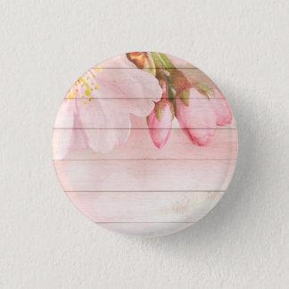 Bóton Redondo 2.54cm Flor de cerejeira