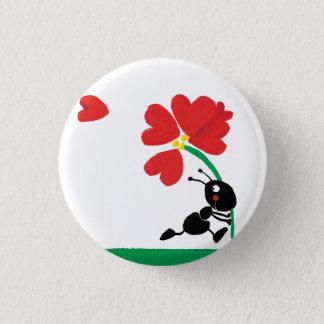 Bóton Redondo 2.54cm flor do amor