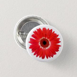 Bóton Redondo 2.54cm Flor multicolorido vermelha e branca da margarida