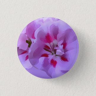 Bóton Redondo 2.54cm Flor violeta do hibiscus do abstrato do rosa