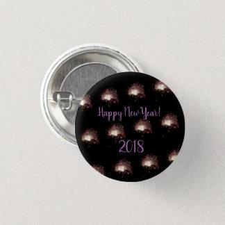 Bóton Redondo 2.54cm Fogos-de-artifício do feliz ano novo