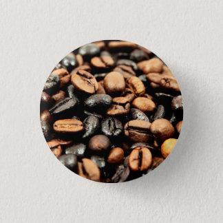 Bóton Redondo 2.54cm Fotografia dos feijões de café