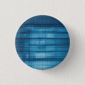 Bóton Redondo 2.54cm Fundo do mosaico da tecnologia como uma arte do