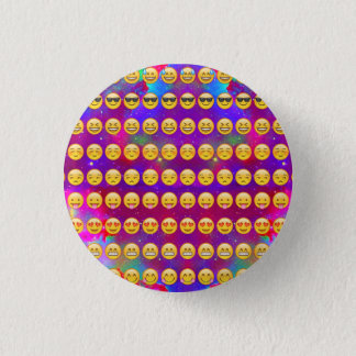 Bóton Redondo 2.54cm Galáxia Emojis