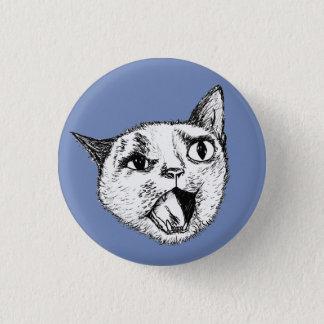 Bóton Redondo 2.54cm Gato gritando