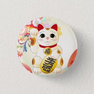 Bóton Redondo 2.54cm Gato japonês da fortuna de Maneki Neko