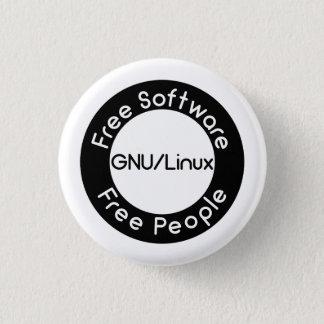 Bóton Redondo 2.54cm GNU/Linux