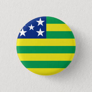 Bóton Redondo 2.54cm Goiás, botão brasileiro da bandeira do estado